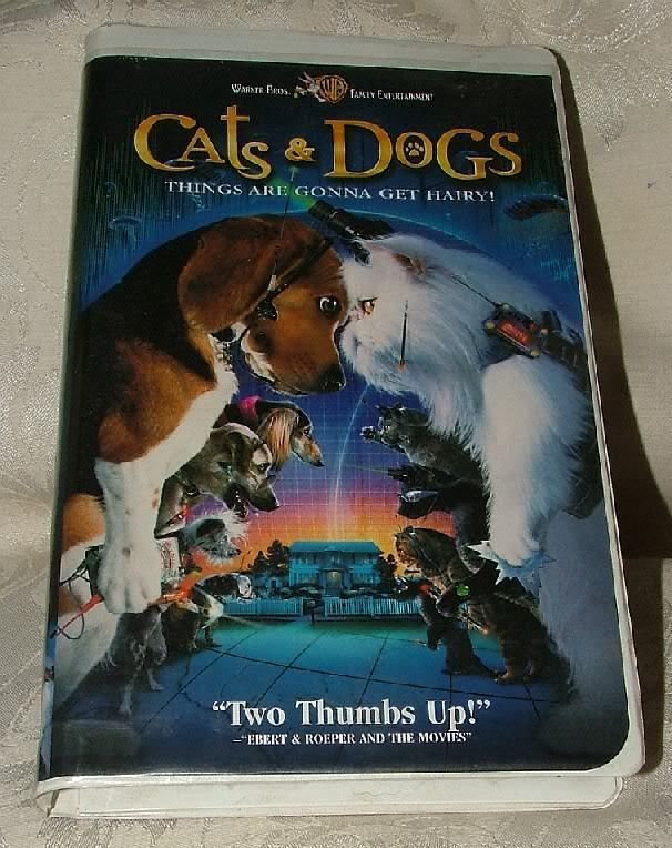 Primary image for VHS Tape 2001 CATS & DOGS Things are Gonna Get Hairy Fantasy Clamshell Case Fine