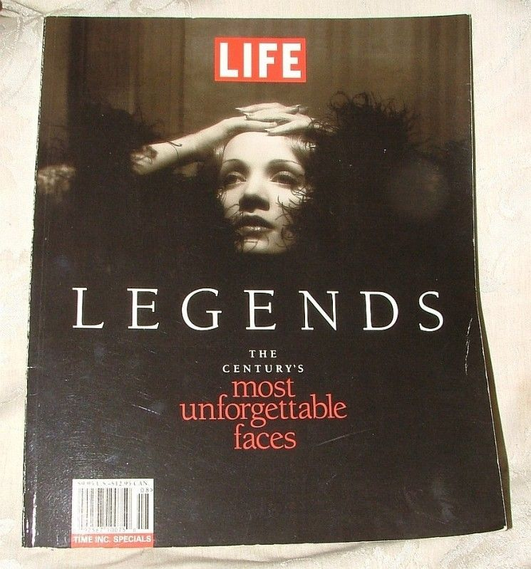 Primary image for 1997 LIFE LEGENDS The Century's Most Unforgettable Faces WONDERFUL IMAGES