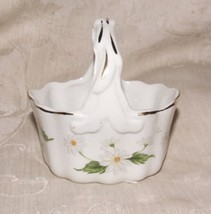 LEFTON Japan #02672 Porcelain DAISY Basket of the Month JUNE with Label - $15.00