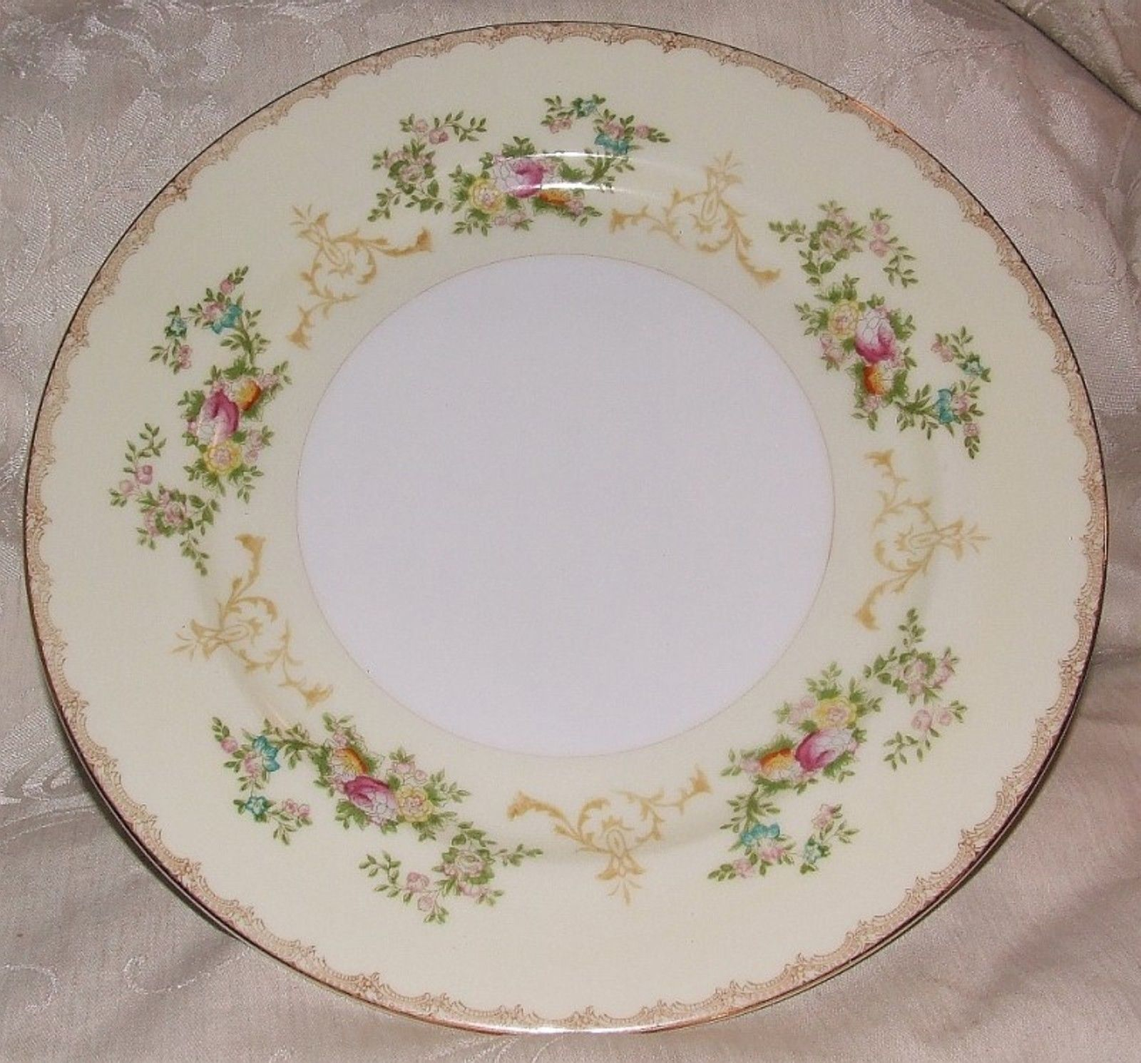 Primary image for MEITO FLORA Dinner Plate Elegant Hand Painted Porcelain Japan 1950s 3 Available