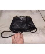JENNIFER MOORE MACY's Convertible Handbag Clutch Shoulder Bag Black Soft... - $40.00