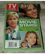 TV Guide MOVIE STARS April 18-24 1998 Brad Pitt Leonardo DiCaprio Jodie ... - $10.00