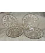 "c1910 4 New Martinsville Clear Glass 7 3/8"" BOWLS FLORENE #720 15 Panels - $80.00"