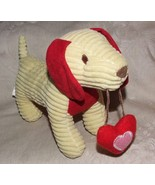 2012 ANIMAL ADVENTURE Yellow & Red Corduroy Stuffed Dachshund Dog with H... - $15.00