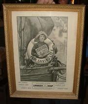 1902 Lifebuoy Advertisement Beautifully Framed ... - $84.15