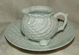 1920s Victoria #382 Czechoslovakia MINI Creamer & Liner Plate Seashell L... - $50.00