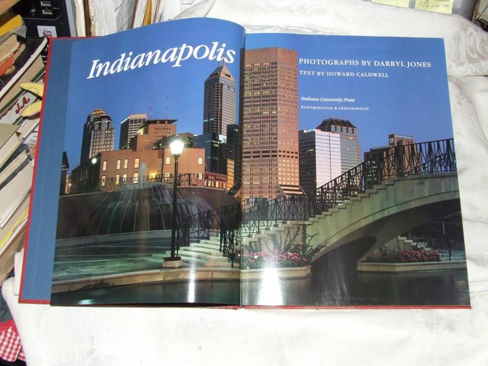1990 INDIANAPOLIS Oversize Coffee Table Book Darryl Jones Howard Caldwell Photos