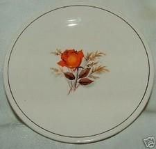 1940s Sebring Vermillion Rose Bread & Butter Plate - $4.00