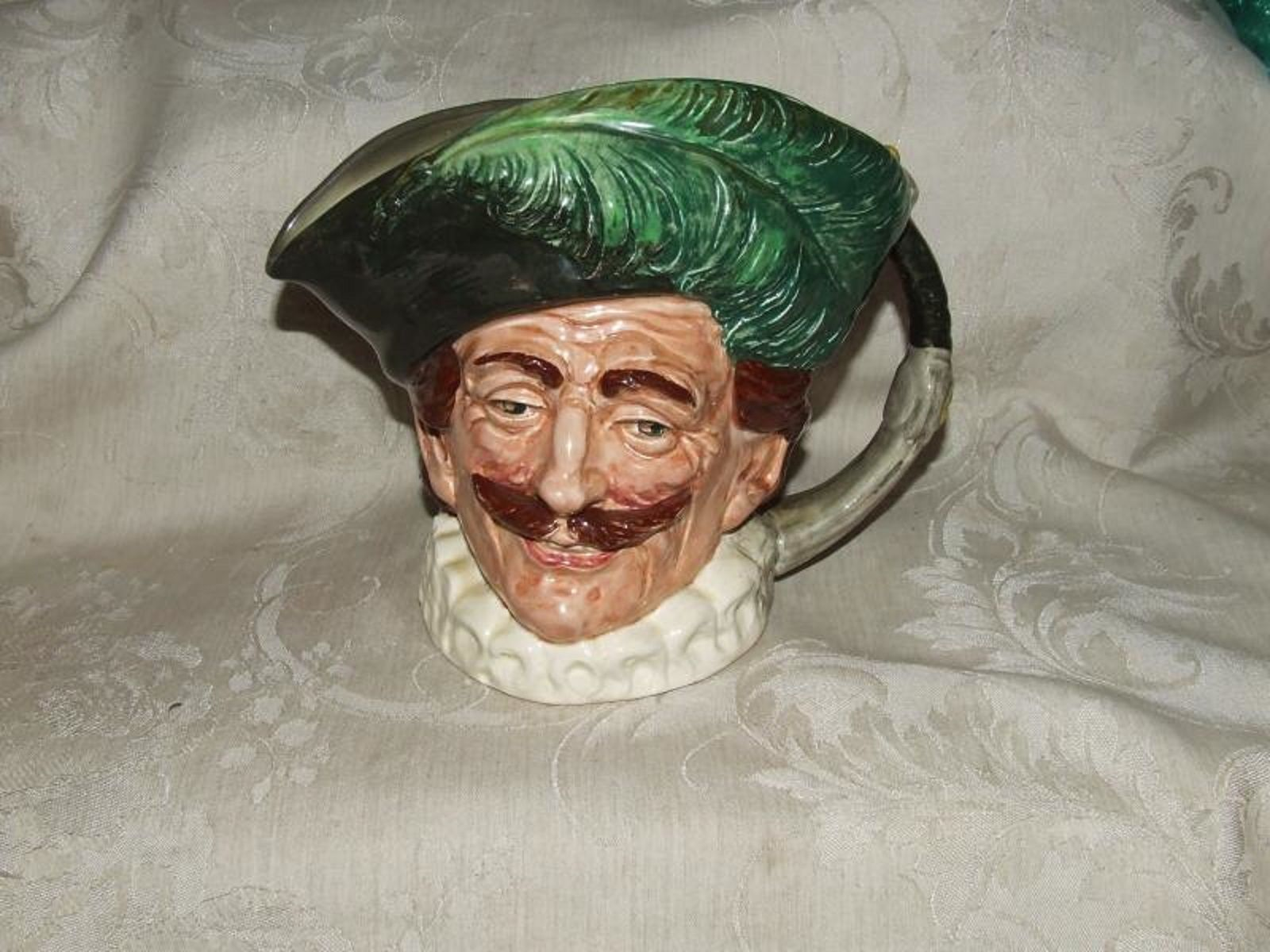 Vintage 1932+ Royal Doulton THE CAVALIER Staffordshire Large Toby Jug Pitcher - $165.00