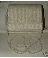 1984 La Regale White Beaded Convertible Clutch Evening Bag Bead Shoulder... - $35.00