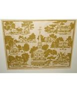 Nancy Arnold Silk Screen on Paper #1/20 HISTORIC Norwell MAssachusetts c... - $275.00