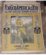 RARE 1917 Sheet Music For God America & You Willa Holt Wakefield World W... - $40.00