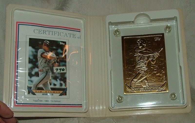Primary image for 1994 BASEBALL Highland Mint TIM SALMON 1993 Topps #20 BRONZE Card 483 of 768