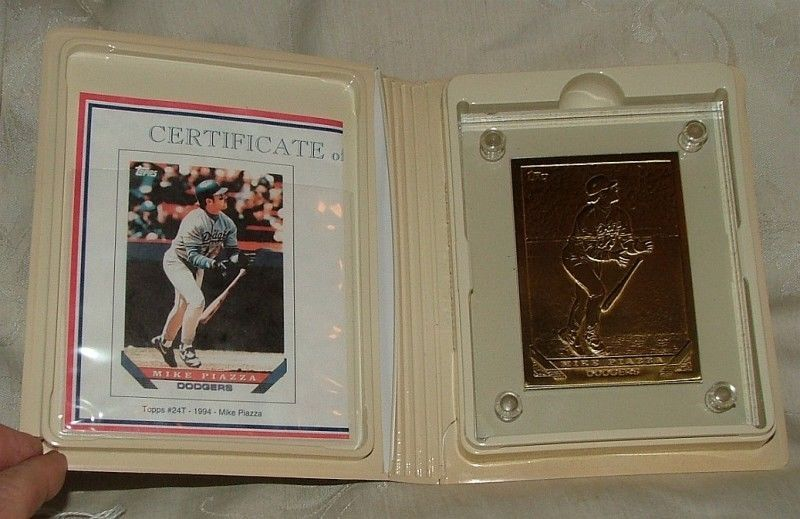 Primary image for 1993 BASEBALL Highland Mint MIKE PIAZZA 1993 Topps #24T BRONZE Card 757 of 2500