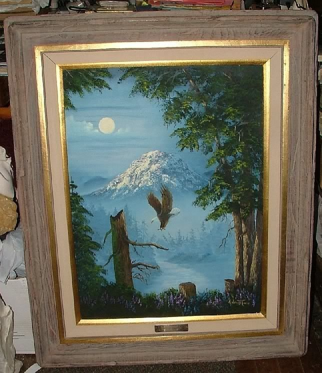 Primary image for Johnye Cruse FREE SPIRIT Eagles MONTANA 1980s Original Oil on Canvas