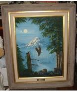 Johnye Cruse FREE SPIRIT Eagles MONTANA 1980s Original Oil on Canvas - $2,800.00