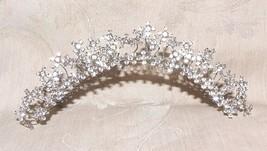 1980s Tiara Hair Comb Rhinestone Floral Nodder ... - $135.00