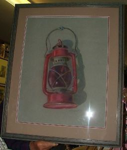Primary image for c1970 Raymond Finelli Warwick RI Red RR Lantern PASTEL