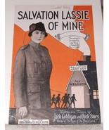 "1919 Sheet Music SALVATION LASSIE OF MINE Small 10"" High NO Salvation Ar... - $10.00"