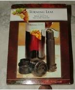 Turning Leaf Wine Bottle Vacuum Sealer & 2 Caps NEW in Box - $12.00