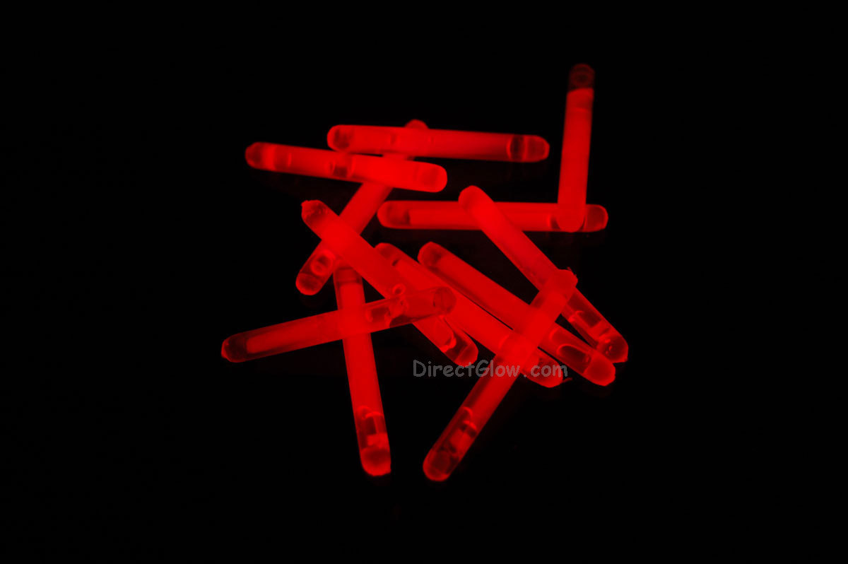 "1.5"" inch Red Mini Glow Sticks- 24 pack"