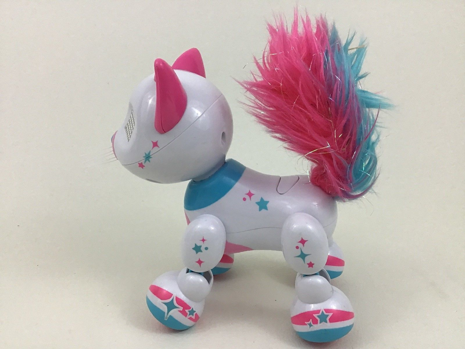 Fancy Zoomers Meowzies Cat White Robot Toy Girl's Spin Master 2016