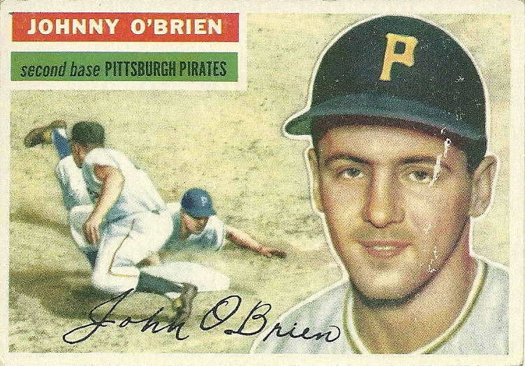 Primary image for 1956 Topps Johnny O'Brien 65 Pirates Very Good
