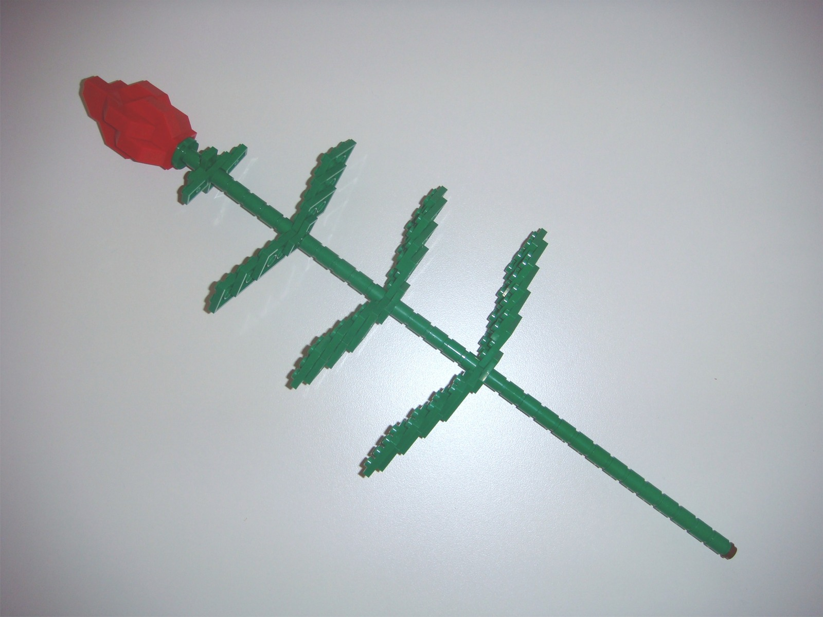BrickCrafts Build-Your-Own LEGO® Red Long Stem Rose
