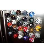 32 NFL TEAM FOOTBALL HELMET FRIDGE REFRIGERATOR MAGNETS SET - $33.57