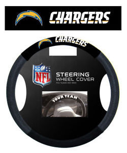SAN DIEGO CHARGERS SUEDE MESH CAR STEERING WHEEL COVER NFL FOOTBALL