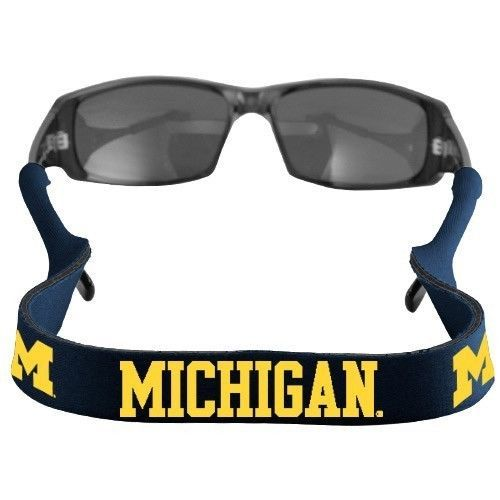 MICHIGAN WOLVERINES CROAKIES SUNGLASSES EYEGLASS STRAP NCAA