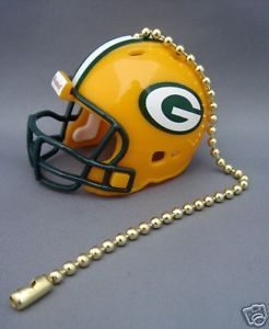 LIGHT/FAN PULL & CHAIN GREEN BAY PACKERS NFL FOOTBALL