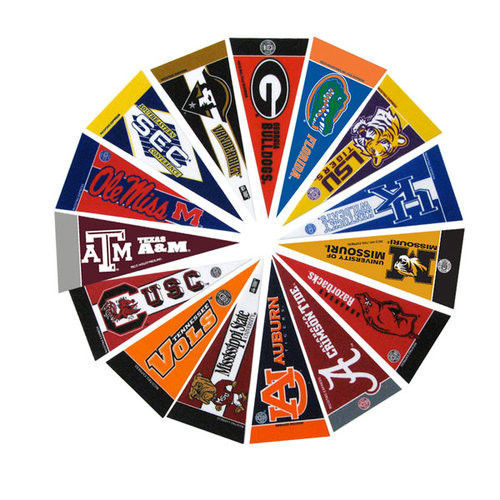 *NEW* SEC CONFERENCE FELT TEAM MINI PENNANT SET plus SEC CONFERENCE PENNANT