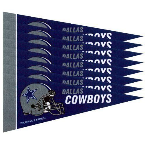 DALLAS COWBOYS 8 PIECE FELT MINI PENNANTS SET PACK NFL FOOTBALL
