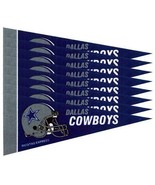 DALLAS COWBOYS 8 PIECE FELT MINI PENNANTS SET PACK NFL FOOTBALL - $11.89