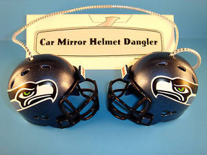 SEATTLE SEAHAWKS CAR HOUSE NFL FOOTBALL HELMET KNOCKERS-Hang from Anything!