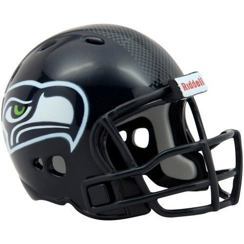 "SEATTLE SEAHAWKS SMALL NFL FOOTBALL HELMET 2"" SIZE  Made By RIDDELL!"