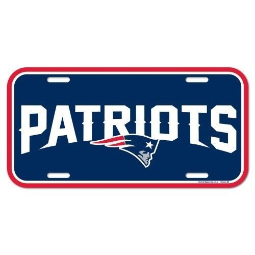 NEW ENGLAND PATRIOTS TEAM LOGO CAR AUTO LICENSE PLATE TAG NFL FOOTBALL