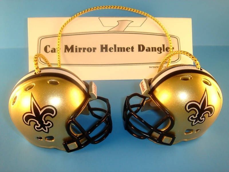 NEW ORLEANS SAINTS CAR MIRROR NFL FOOTBALL HELMET DANGLER - HANG FROM ANYTHING!