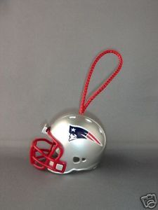 FOOTBALL HELMET CHRISTMAS ORNAMENT NEW ENGLAND PATRIOTS
