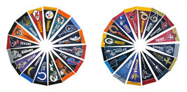 3 SETS - NFL FOOTBALL MLB BASEBALL NBA BASKETBALL 92 TEAMS FELT MINI PEN... - $680,15 MXN