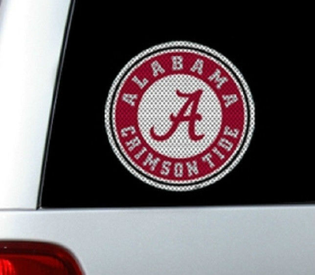 "*BIG* 12"" ALABAMA CRIMSON TIDE CAR HOME PERFORATED WINDOW FILM DECAL"