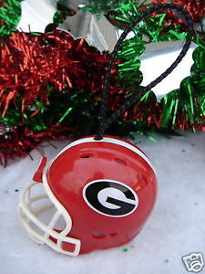 GEORGIA BULLDOGS FOOTBALL HELMET CHRISTMAS ORNAMENT