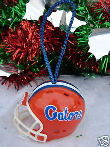 FOOTBALL HELMET CHRISTMAS ORNAMENT FLORIDA GATORS