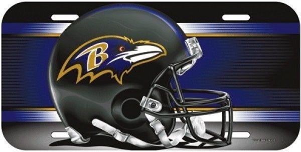 BALTIMORE RAVENS TEAM LOGO CAR AUTO LICENSE PLATE TAG NFL FOOTBALL