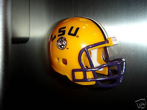 FRIDGE REFRIGERATOR FOOTBALL HELMET MAGNET LSU TIGERS
