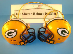 GREEN BAY PACKERS CAR/HOUSE NFL FOOTBALL HELMET KNOCKERS-Hang from Anything!