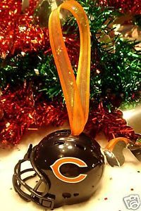 CHRISTMAS BELL FOOTBALL HELMET ORNAMENT CHICAGO BEARS