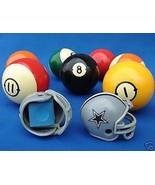 2 DALLAS COWBOYS POOL BILLIARD CUE with MASTER CHALK NFL FOOTBALL HELMET... - $8.43