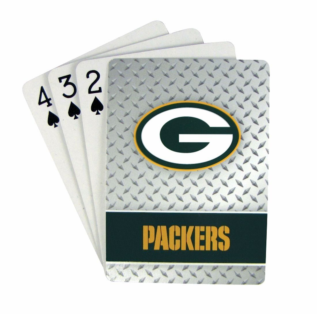 GREEN BAY PACKERS 52 PLAYING CARDS DECK DIAMOND PLATE POKER  NFL FOOTBALL